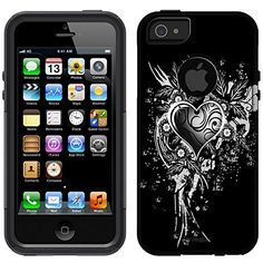 OtterBox Commuter Apple iPhone 5  iPhone 5S Case  Highlighted Heart on Black OtterBox Case * To view further for this item, visit the image link.