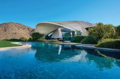 Famed California architect John Lautner designed this dramatic home for comedian Bob Hope & wife Dolores :: 6 bedrooms, 10.3 baths, 23,300 sq. ft., available for $ 50 million...