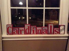 Handmade Cardinals Customized Baseball Blocks!