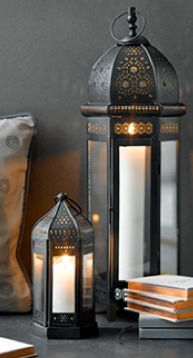 I love candles,candle holders & lanterns of all kinds.