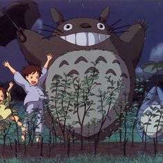 My Neighbor Totoro Studio Ghibli Art, Studio Ghibli Movies, Manga Art, Anime Manga, Anime Art, Chihiro Y Haku, Girls Anime, Hayao Miyazaki, My Neighbor Totoro