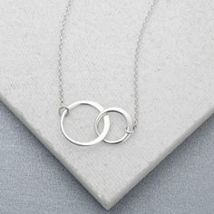 Lily Charmed Silver Linked Circles Necklace