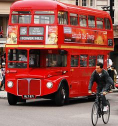 London bus--ride on one of these...