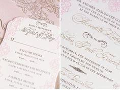 Luxury Wedding Invitations by Ceci New York - Romantic Wedding
