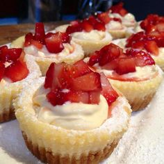 cool Mini Baked Strawberry & Cream Cheese Cakes I almost loathe to give away just how simple these are as they really do look as though you've toiled away n the kitchen when truth be told you can ... https://www.sapromo.com/mini-baked-strawberry-cream-cheese-cakes/9924