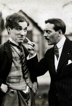 Charles Chaplin and Max Linder