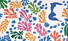 Colour dances, and our eyes dance with it ... detail from Matisse's The Parakeet and the Mermaid (1952).