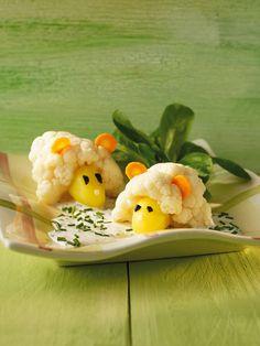 Blumenkohlgemüse mit Sahnesauce und Schnittlauch für Kinder - smarter - Zeit: 40 Min. | http://eatsmarter.de/rezepte/blumenkohlgemuese-mit-sahnesauce-fuer-kinder