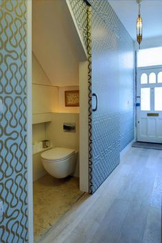 powder room door idea_ Venn St Part 1 - contemporary - Powder Room - London - Proctor & Co Architecture Ltd