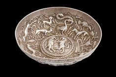 A Rare And Fine Ottoman Parcel-Gilt Repousse Silver Bowl, Marked with Century European Silver Import Mark, Balkans, Century. Ottoman Turks, Ottoman Empire, Hammered Silver, Byzantine, 18th Century, Islamic, Greek, Ceramics, Traditional