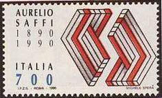 "1990 - ""Saffi Rosso"" - Centenario della morte di Aurelio Saffi (1819-1890)"