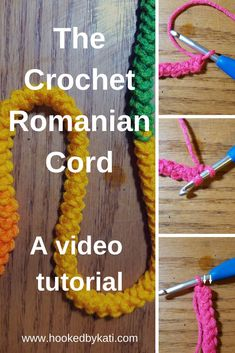 Crochet handbags 139259813462487476 - Learn to make a Romanian crochet cord with this video! It's and easy, one step cord for any project! Crochet Stitches For Beginners, Crochet Stitches Patterns, Crochet Videos, Sewing For Beginners, Crochet Designs, Beginner Crochet, Knit Stitches, Stitch Patterns, Knitting Patterns