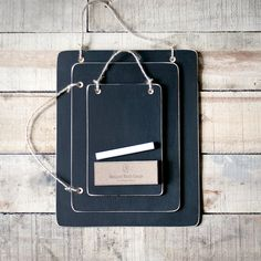 Hanging Memo Chalkboard 3 Pack Plus Chalk . Made To Order