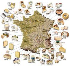 Les fromages de la FRance
