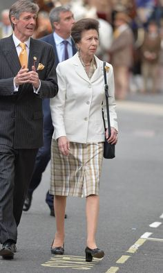 Royal: Princess Anne arrives at the East India Club to receive the new Waterloo dispatch (Picture: John Stillwell/PA Wire)