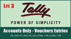 Tally ERP 9 Tutorial Lesson 3 - Find How to Pass Journal Entries In Tally Accounting - Purchase, Sales, Receipt, Payment, Return, Contra, Expenses, Income http://genrontech.com/pass-journal-entries-in-tally/