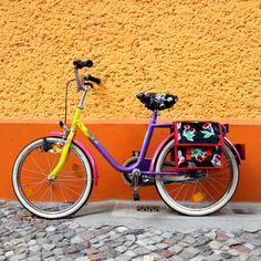 Fahrradtaschen - SET Kinderfahrradtasche und Sattelschoner Kirschen - ein Designerstück von Ikuri bei DaWanda