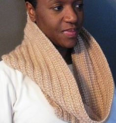 Free Crochet Pattern – Tunisian Crochet Cowl (Ribbed)