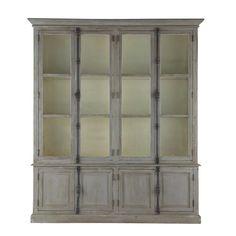Recycled wood wardrobe in grey W 200cm