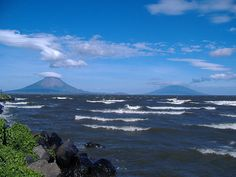 Lago Nicaragua, Nicaragua. The volcano on the left, Volacn Conception, I climbed <3