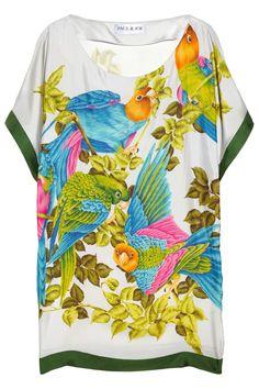 Paul & Joe|Eroquet printed silk-twill tunic|NET-A-PORTER.COM