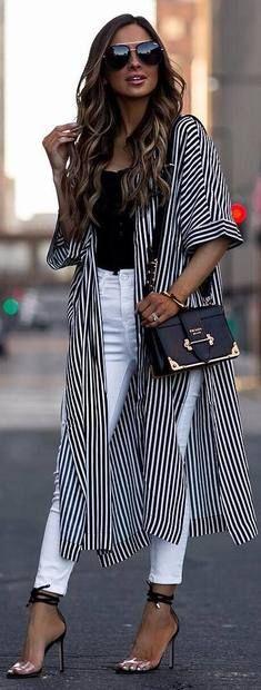 New Moda Femenina Oficina Outfits Casual 44 Ideas Boho Outfits, Spring Outfits, Casual Outfits, Cute Outfits, Fashion Outfits, Kimono Fashion, Boho Fashion, Womens Fashion, Casual Chic