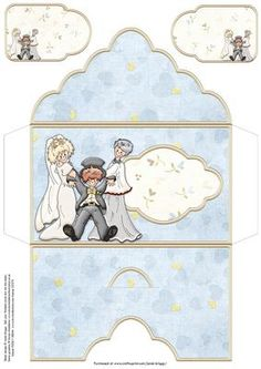 WEDDING DAY TO THE ALTAR Money Wallet on Craftsuprint designed by Janet Briggs - Money wallet or gift voucher envelope for Wedding Day.Features humorous bride and vicar dragging the groom to the altar.Also includes 2 coordinating gift tags.I have 2 card designs that also match this theme, on cup278815_68 and cup406837_68 - Now available for download!