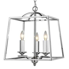 Athena Chrome Chandelier | Golden Lighting at Lightology