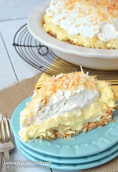 This Coconut Banana Cream Pie just may be the most delicious thing you've ever eaten! Seriously friends! Delicious old fashioned homemade Coconut Custard, a layer of fresh bananas, a generous topping of fresh whipped cream all cradled in a coconut macaron style crust!! I love dessert. Brownies, cookies, cakes—any sweets you can think of, I …