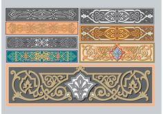 Livre gráficos vetoriais art nouveau, molduras barrocas vetor, bordas…