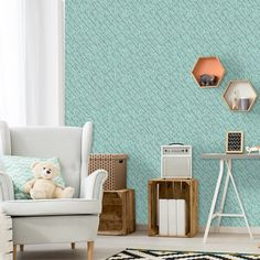 Feather+Wallpaper++Boho+Style+Peel+and+Stick+by+InAnInstantArt