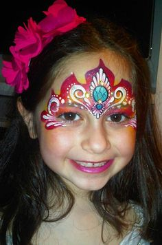 This is the most lovely princess crown design i've ever seen. And the most colourfull! Princess Face Painting, Girl Face Painting, Mask Painting, Painting For Kids, Body Painting, Face Painting Images, Face Painting Designs, Face Paintings, Christmas Face Painting