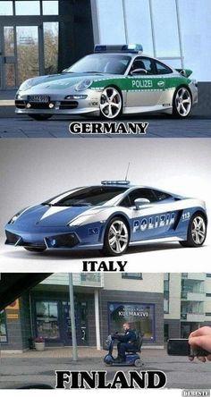 Finnisches Polizeiauto | DEBESTE.de, Lustige Bilder, Sprüche, Witze und Videos