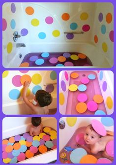 add a LUSH honey bee bath bomb... Polka Dot Bath Fun