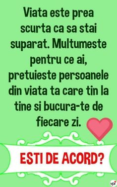 Viața este prea scurtă ca să stai supărat! True Words, Motto, Cool Words, Quotations, Friendship, Funny, Quotes, Internet, Frases