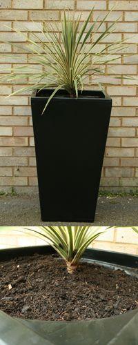 Cambridge Tall Garden Planter - Black V2