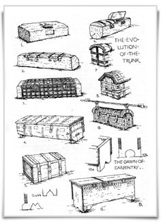 The evolution of the trunkCHESTS : DUG-OUT AND SLAB CONSTRUCTIONS  1. Primitive…