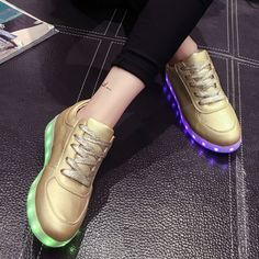 Men's Casual Shoes Self-Conscious Led Light Casual Shoes Couple Lace-up Casual Shoes Colorful Flash Sshoes Breathable Sneakers New Arrivals A Wide Selection Of Colours And Designs Shoes