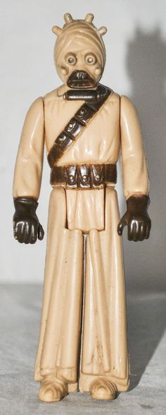 """Vintage Star Wars Sand People / Tusken Raider 4"""" Action Figure by Kenner from 1977"""
