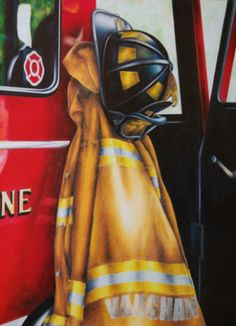 Personalized firefighter print