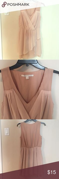 Beige Feminine Dress Beautiful, neutral colored dress for baby/bridal shower or just with a leather jacket for a femme look! Never worn. LC Lauren Conrad Dresses Mini
