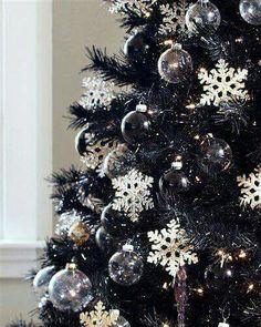 Black Christmas decor