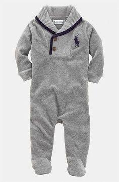 df24d48fd Ralph Lauren Velour Footie (Infant) | Nordstrom Infant Boy Clothing, Infant  Boy Fashion
