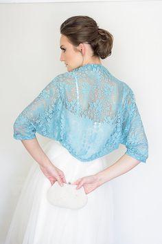 Light blue wedding bolero. Great for bridesmaids! $52 http://www.etsy.com/shop/Sheeebz