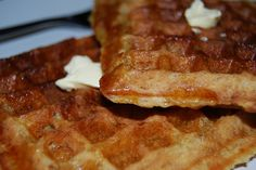 No Egg-o Waffles by Holy Cow! A Vegan Recipe Blog. Gonna have to switch out the oil for something else
