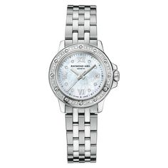 Raymond Weil Ladies Tango Collection Stainless Steel Mother of Pearl Diamond Watch