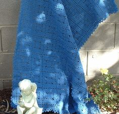Beautiful blanket in a denim blue  $35