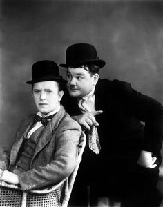 #LaurelAndHardy in action of the films; great #Movie ;-)
