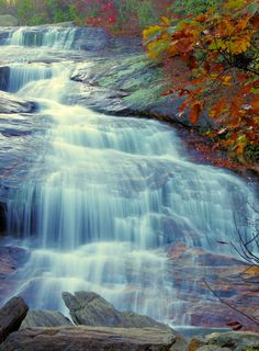 Second Falls at Graveyard Fields on the Blue Ridge Parkway near Asheville