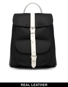 Top Pick: Grafea Monochrome Leather Backpack - I'm in love with this monochrome leather backpack! Perfect size and colour combo! Also feels sporty yet chic <3 http://asos.to/1wi8TCt